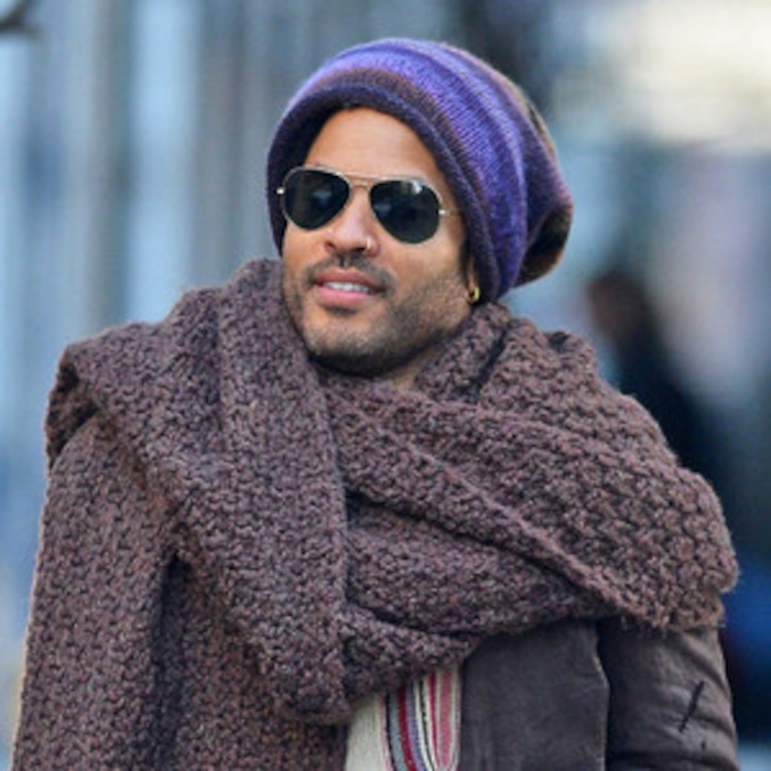 f52e8bac85a Remember When Lenny Kravitz Wore a Scarf That Was Practically a Huge  Blanket Around His Neck