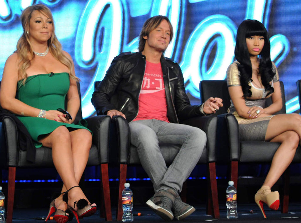 Mariah Carey, Keith Urban, and Nicki Minaj