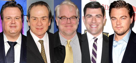 Leonardo DiCaprio, Philip Seymour Hoffman, Tommy Lee Jones, Max Greenfield, Eric Stonestreet