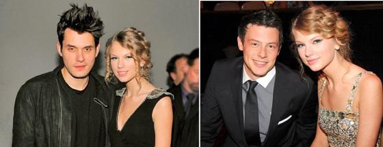 Taylor Swift, John Mayer, Cory Monteith
