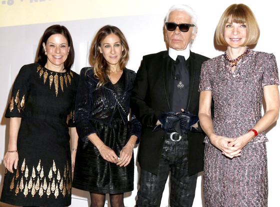 Gina Sanders, Karl Lagerfeld, Anna Wintour, Sarah Jessica Parker