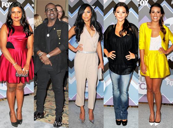 Mindy Kaling, Randy Jackson, Naya Rivera, J Woww, Lea Michele