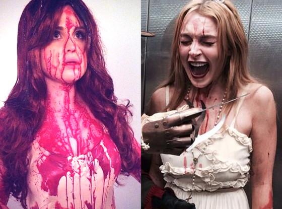 Lindsay Lohan, Kelly Osbourne, Halloween