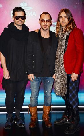Tomo Milicevic, Shannon Leto & Jared Leto