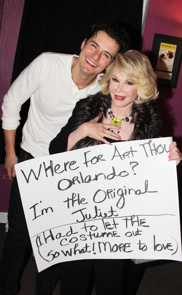 Orlando Bloom, Joan Rivers, Famous Friends