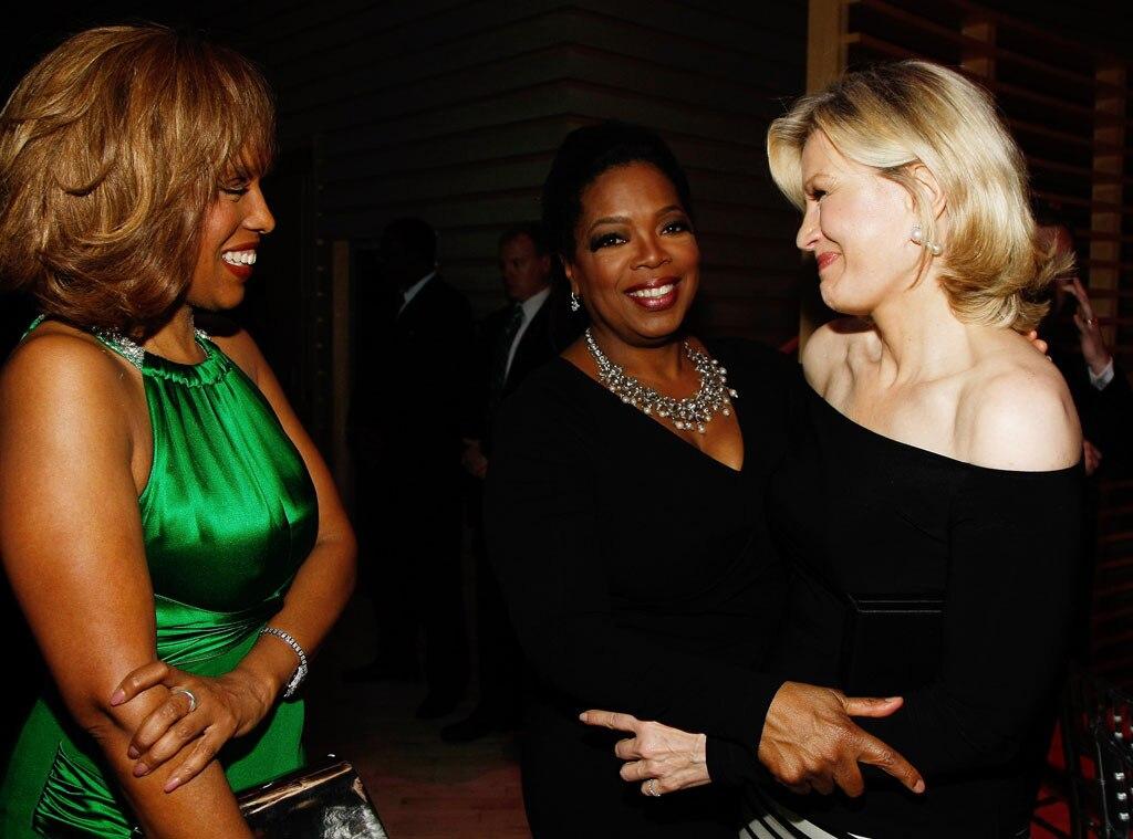 Stars Holiday Entertaining Tips, Gayle King, Oprah, Diane Sawyer