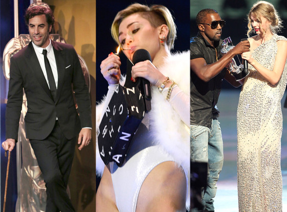Miley Cyrus, Sacha Baron Cohen, Kanye West, Taylor Swift