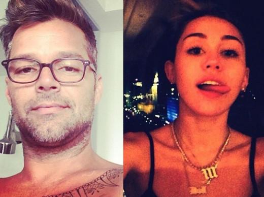 Ricky Martin, Miley Cyrus