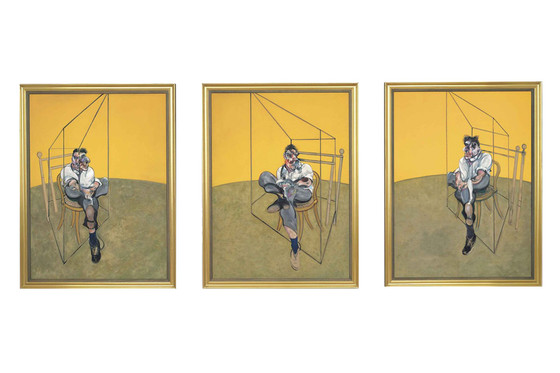 Francis Bacon, Three Studies of Lucien Freud