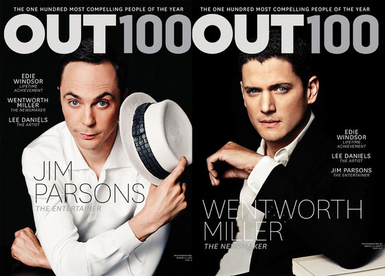 Jim Parson, Wentworth Miller, OUT Magazine