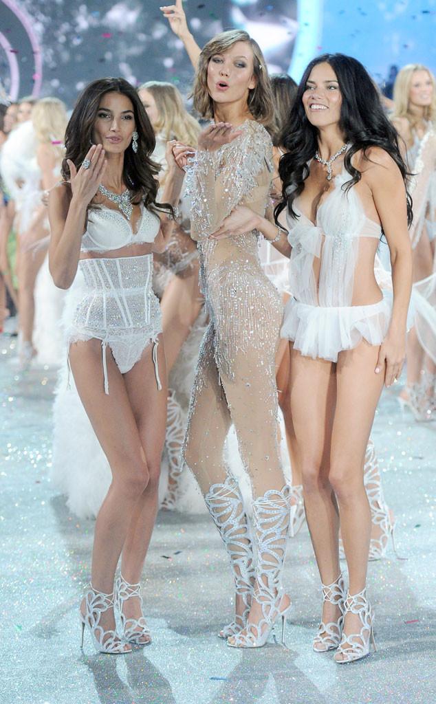 Lily Aldridge, Karlie Kloss, Adriana Lima, Victoria's Secret Fashion Show