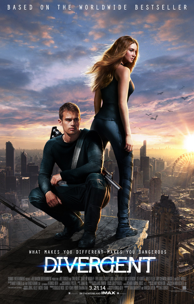Shailene Woodley, Theo James, Divergent Poster
