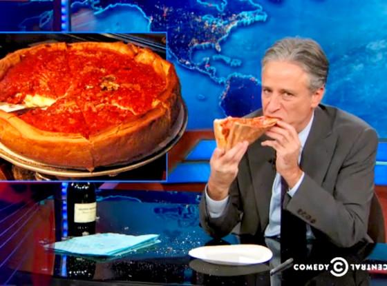 Jon Stewart, Daily Show, Pizza