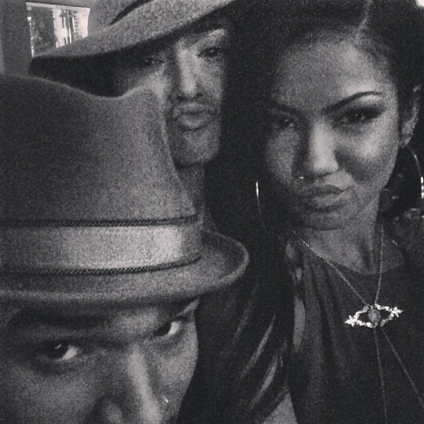 Chris Brown, Karrueche Tran, Jhene Aiko