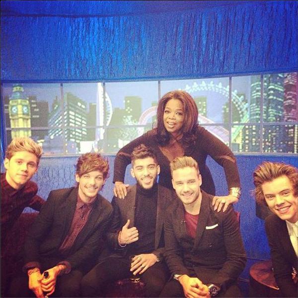 Oprah Winfrey, One Direction, Instagram