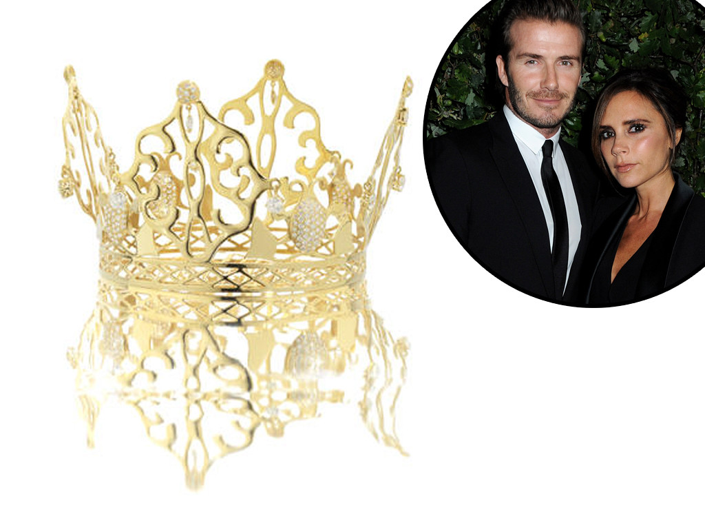 david victoria beckham wedding cake beckham s wedding tiara is up for auction find 13357
