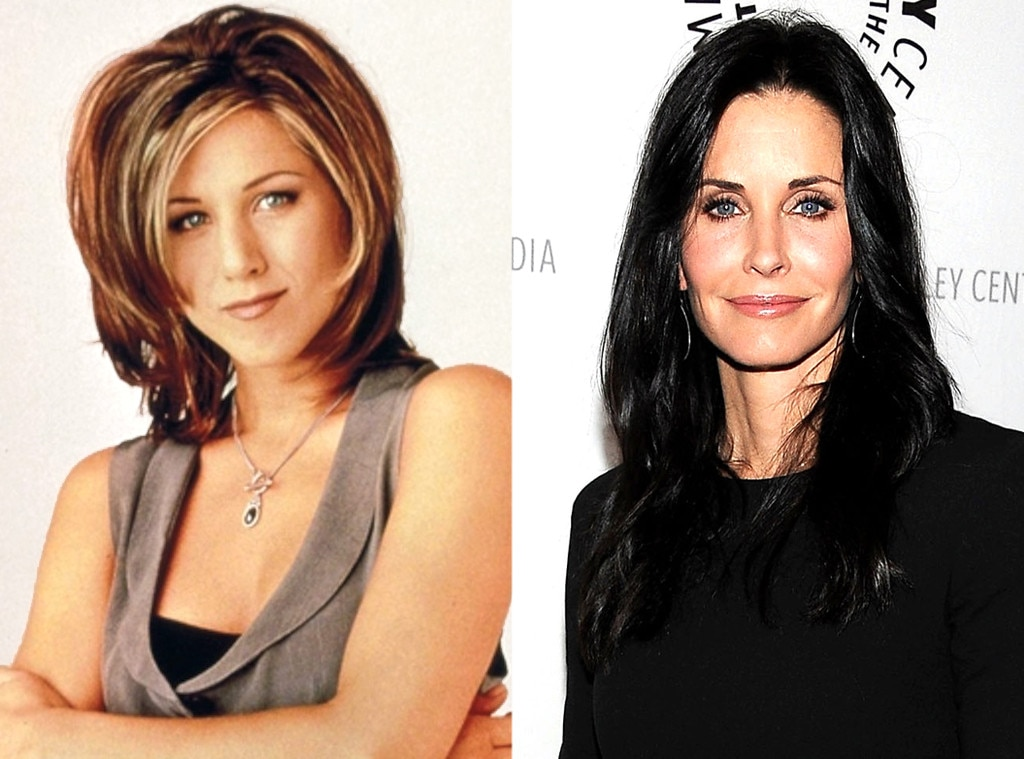 Courtney Cox as Rachel on  Friends  -  Most die-hard  Friends  fans know this, but for the uninitiated,  Courteney Cox  auditioned for Rachel before being cast as her best friend Monica. Jennifer Aniston  won the role of Rachel and the rest is history.