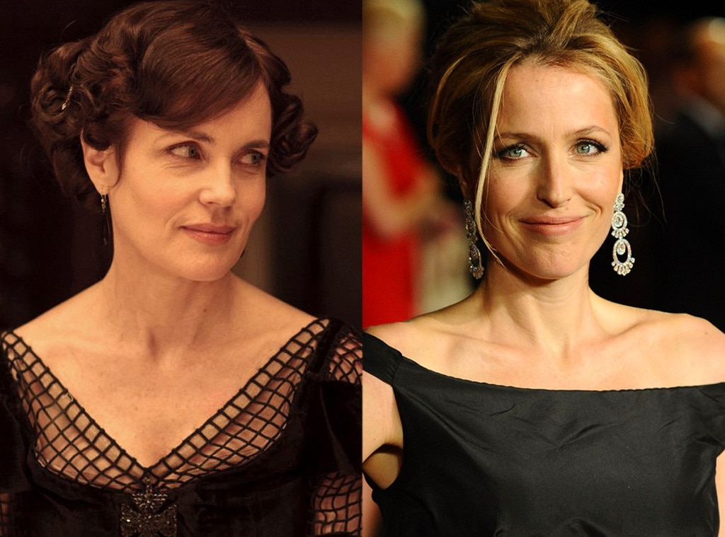 Gillian Anderson as Lady Cora on  Downton Abbey  -  Can you imagine Agent Scully residing in Downton Abbey? It almost happened, but the  X Files  star turned down the role that eventually went to  Elizabeth McGovern .
