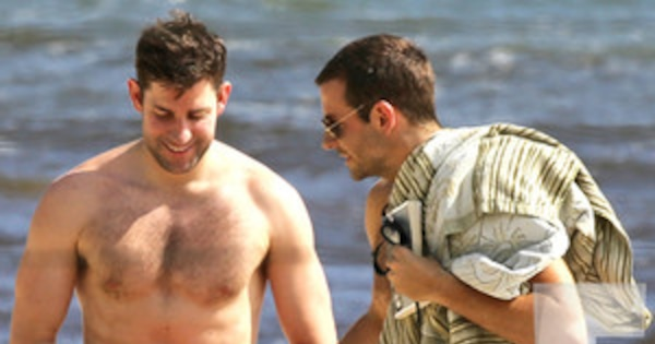 Shirtless Bradley Cooper And John Krasinski Live It Up In
