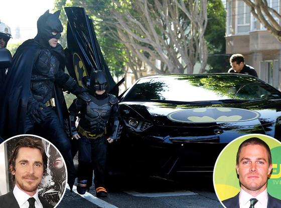 Batkid, Christian Bale, Stephen Amell