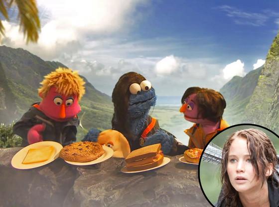 Hunger Games, Sesame Street, Jennifer Lawrence