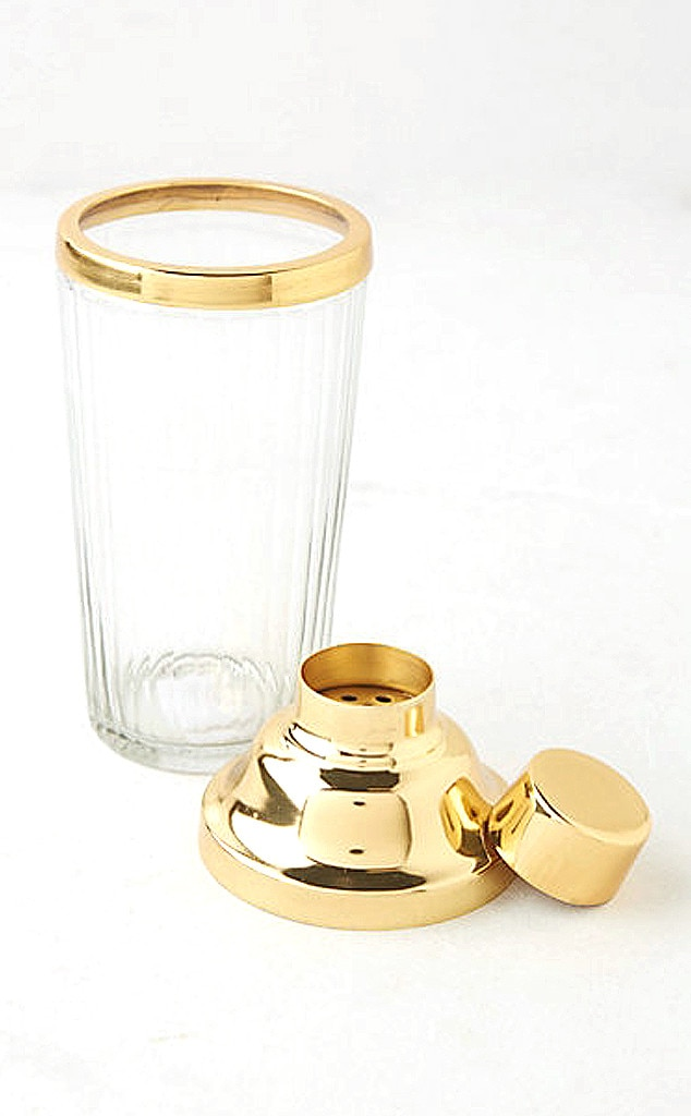 Lauren Conrad Gift Guide,  Golden Cocktail Shaker