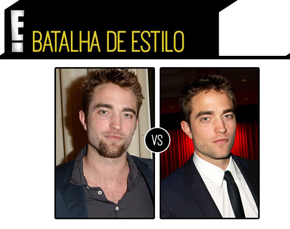 Robert Pattinson estilo foto cavanhaque