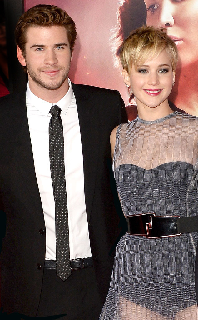 Liam Hemsworth, Jennifer Lawrence, The Hunger Games: Catching Fire
