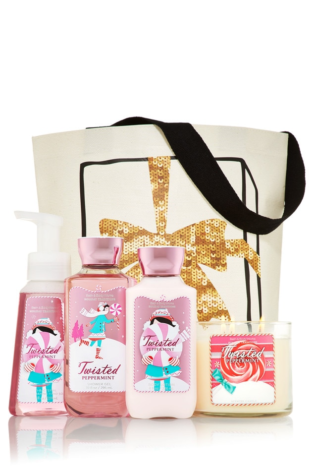 Best Beauty Buys Gift Guide, Bath and Body Works, Twisted Peppermint Set