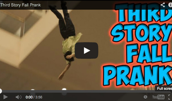 Third Story Fall Prank