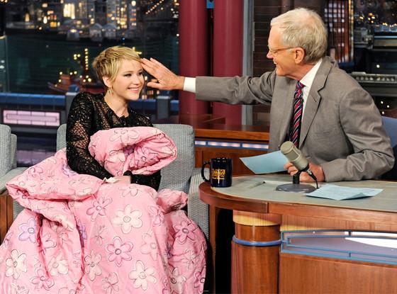 Jennifer Lawrence, David Letterman