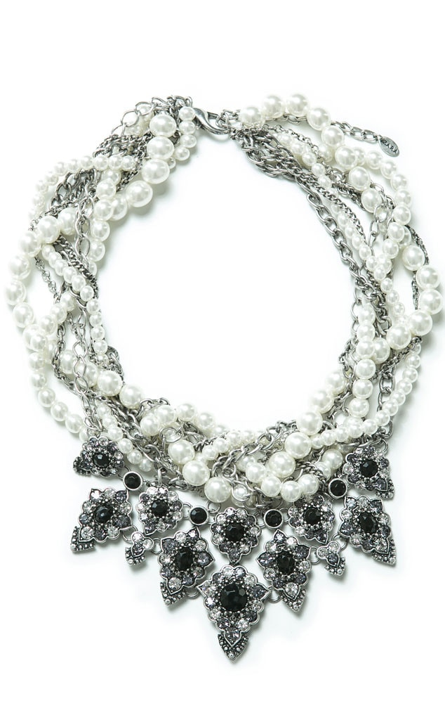 Nicole Richie Pinterest Gift Guide, Zara Pearls and Chains Necklace