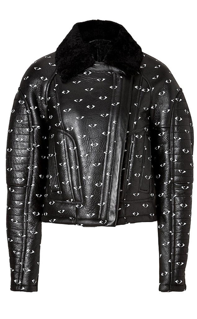 Nicole Richie Pinterest Gift Guide, Kenzo Shearling Eye Print Jacket