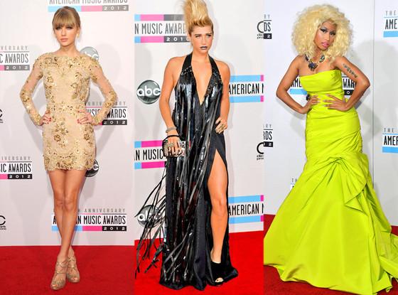 Taylor Swift, Kesha, Nicki Minaj, AMERICAN MUSIC AWARDS