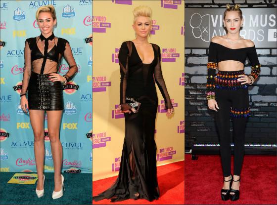 O estilo de Miley Cyrus no Red Carpet