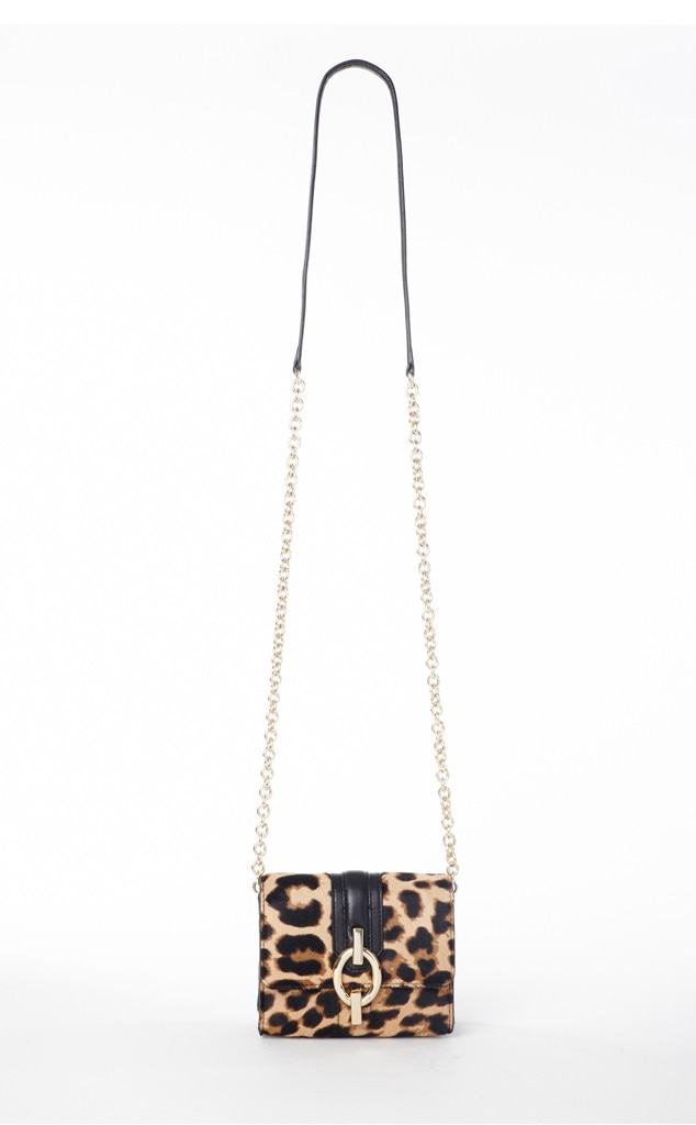 DVF Sultra Micro Mini Purse in Leopard Calf Hair