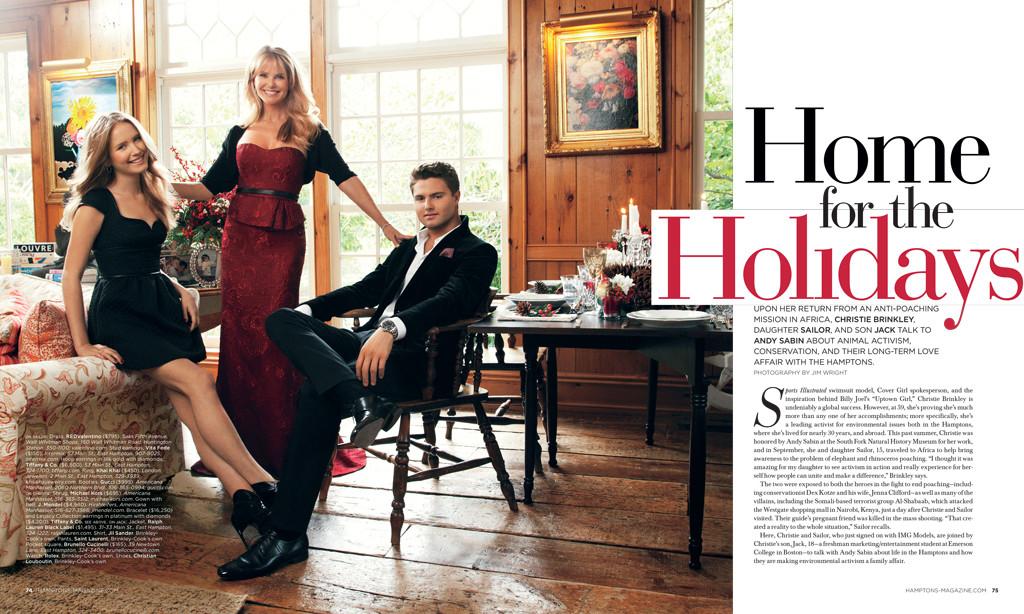 Christie Brinkley, Hamptons Magazine