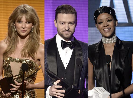Taylor Swift, Justin Timberlake, Rihanna, 2013 American Music Awards