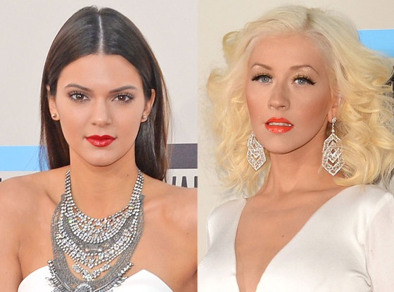 Kendall Jenner, Christina Aguilera, American Music Awards Beauty