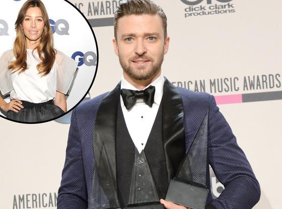Justin Timberlake, Jessica Biel, 2013 American Music Awards