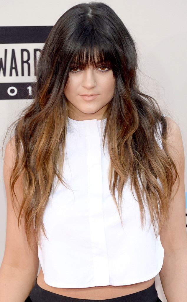 Fake Out -  Don't go gaga over Kylie's bangs just yet—they're  clip-ins !