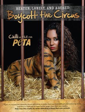 Chilli, TLC, Peta, Boycott the Circus
