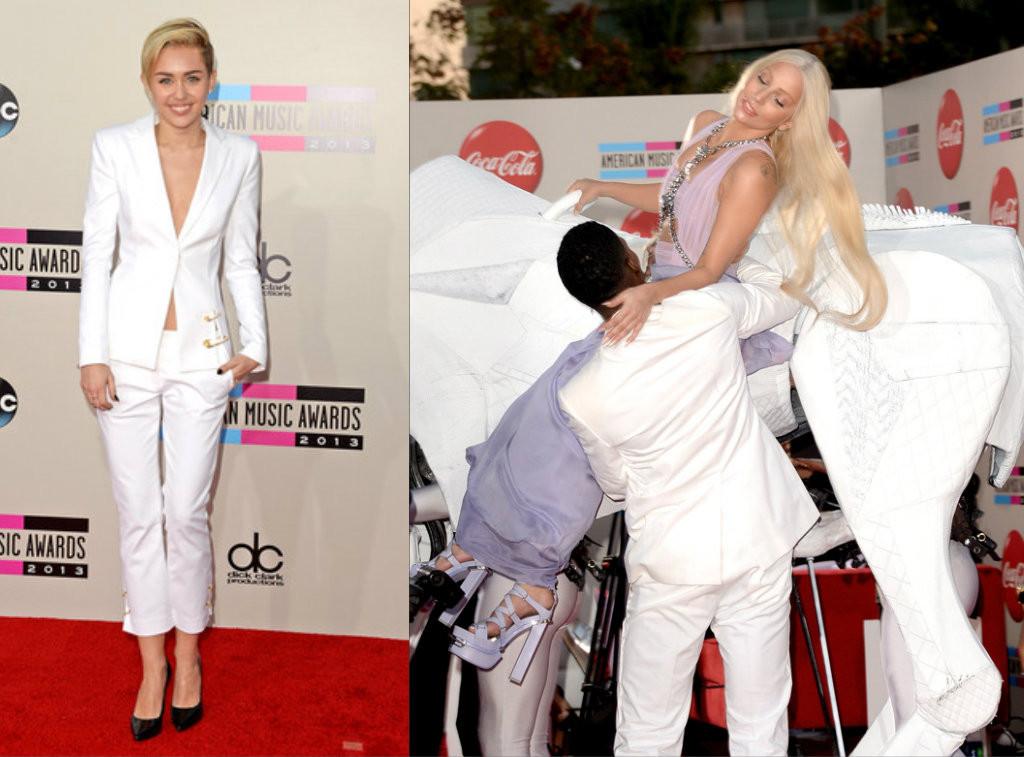 Gaga e Miley American Music Awards