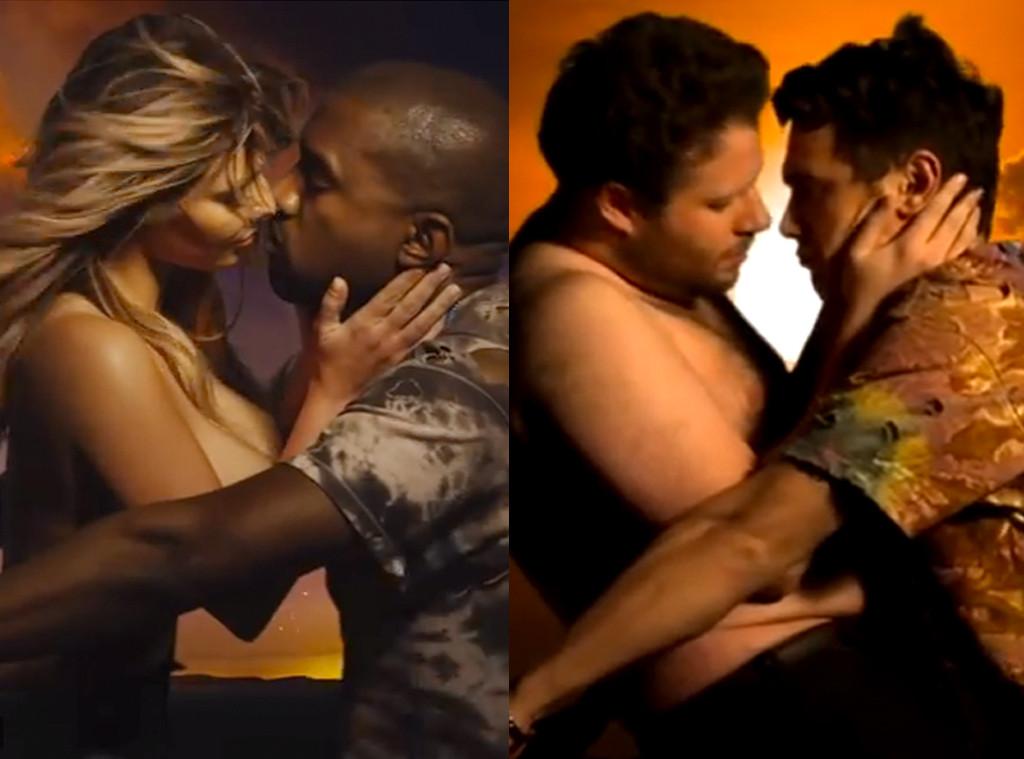 Kim Kardashian, Kanye West, Seth Rogen, James Franco, Bound 2 Video