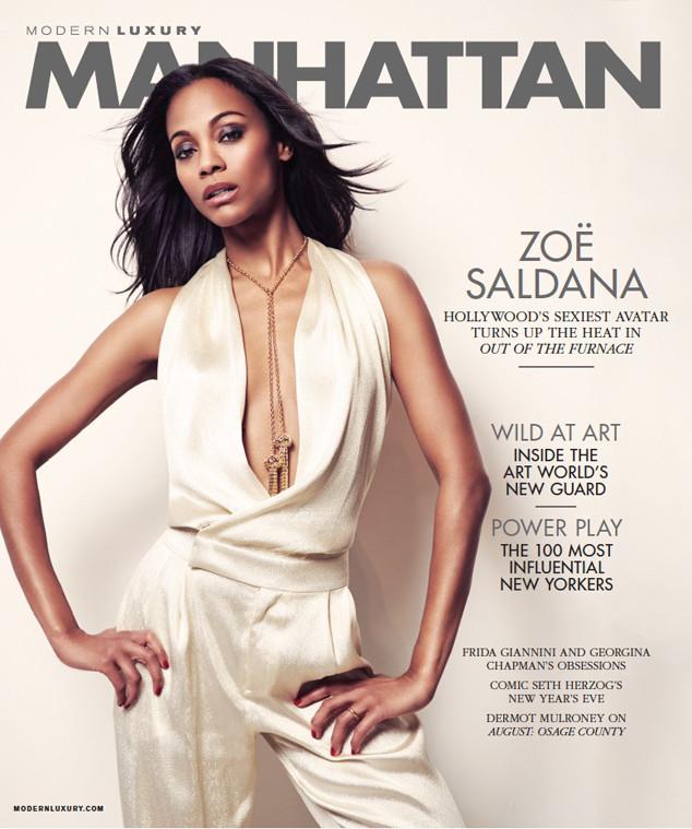 Zoe Saldana, Manhattan Magazine