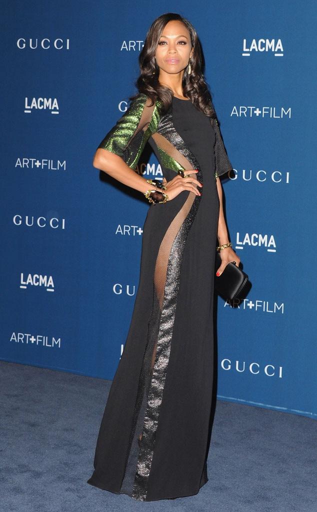 Zoe Saldana, LACMA Gala