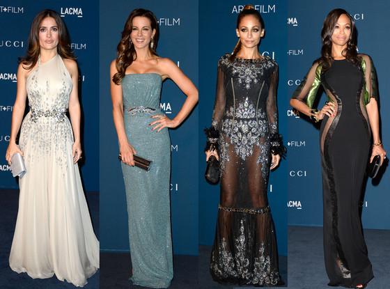 Salma Hayek, Kate Beckinsale, Nicole Richie, Zoe Saldana