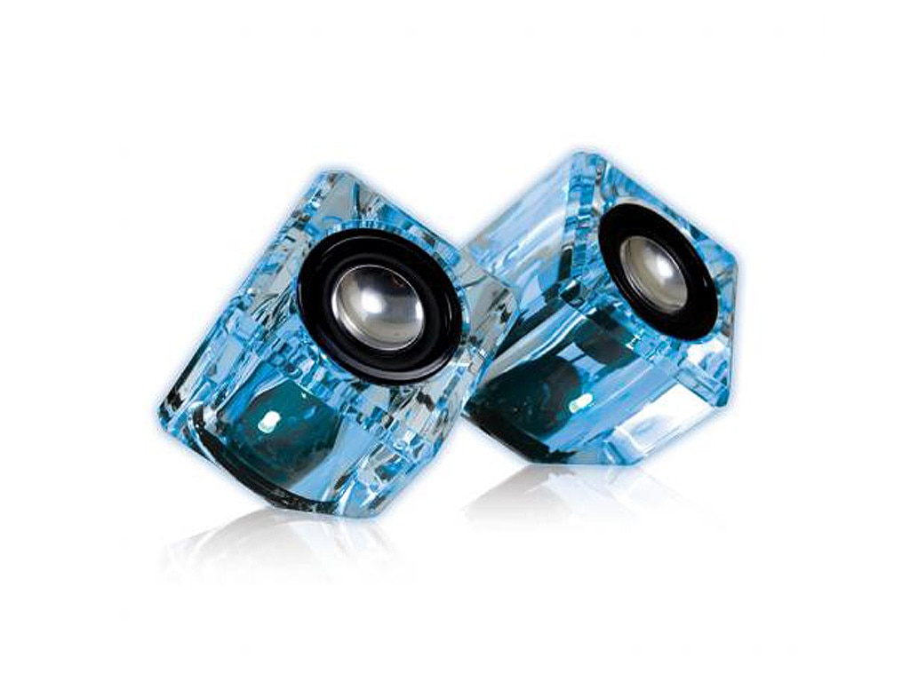 Blue iSound Ice Crystal Compact Speakers, Holiday Gadget Gift Guide