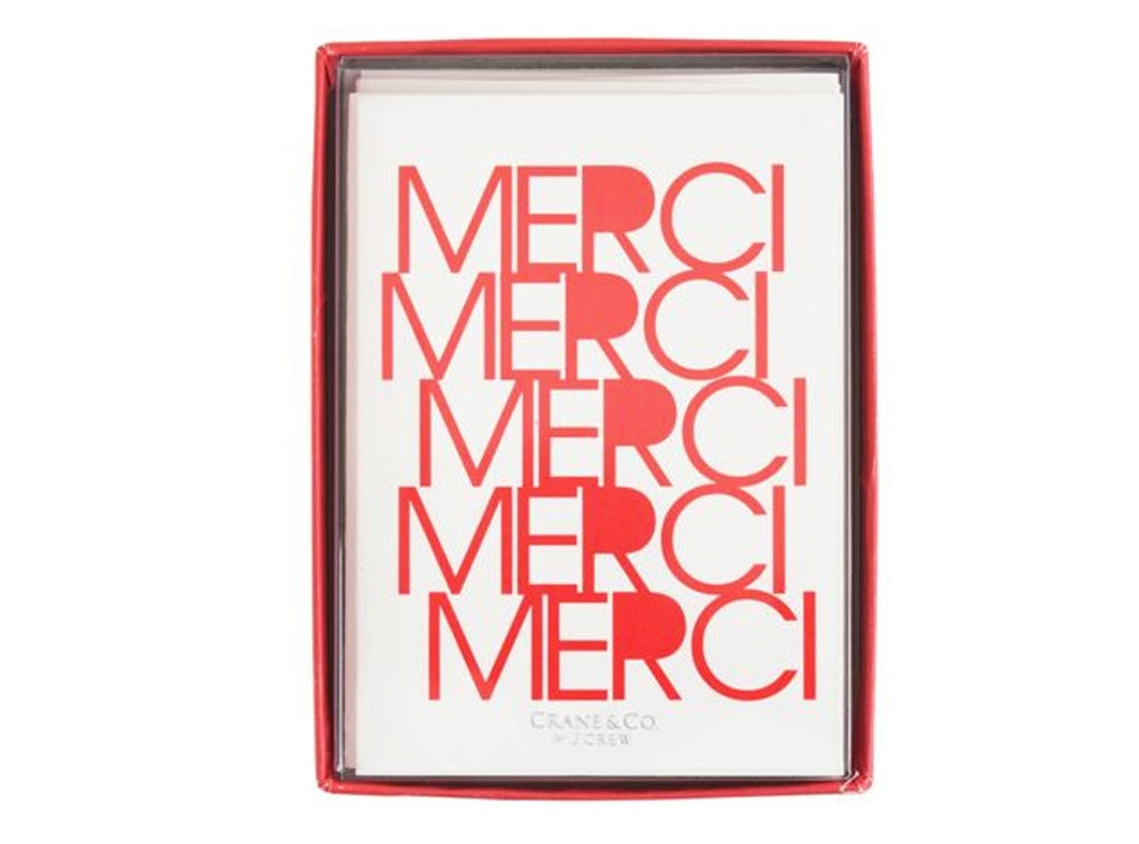 Hostess Gift Guide, Crane & Co. x J.Crew Merci Card Set