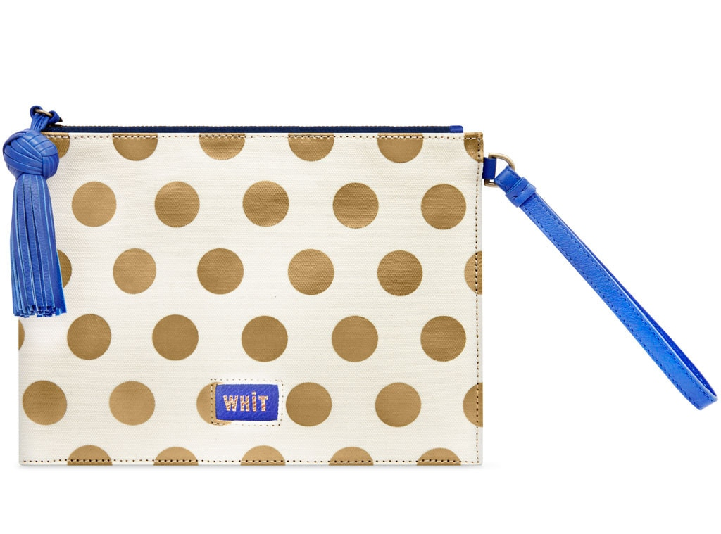 Holiday Charity Gift Guide, Whit Peru Dot Wristlet Clutch